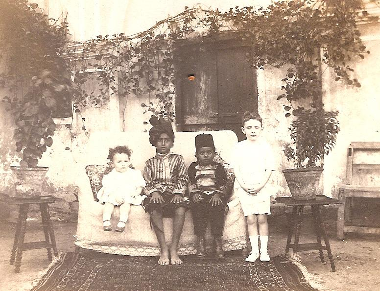 In Aden 1913, with Clive and the sons of the Sultan of Lahej.