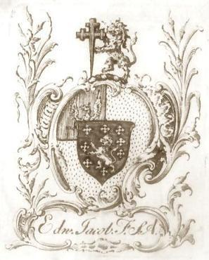 Edward's bookplate (Jacob MSS)
