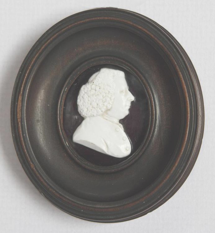 A sulphide portrait in miniature of ca 1770  (actual size).