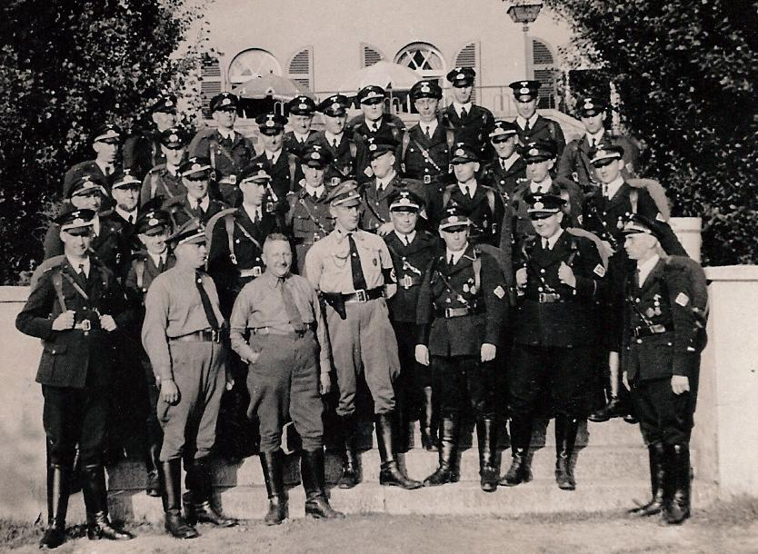 Walther with the Technische Nothilfe in WWII. He is far left in the front row.